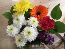 small cut flower boquet