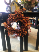 Small Fall Berries Wreath Gift Item