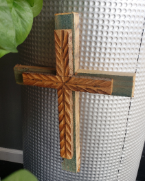 Small Hanging Cross  Hand carved cross
