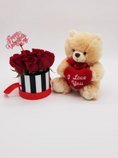 Small Honey Bear Valentines' Arrangement
