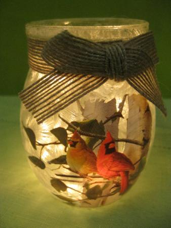 SMALL JAR CARDINAL LIGHT GIFT