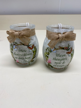 Small lighted jars Lighted