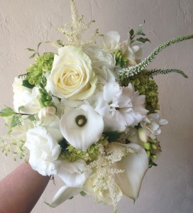 Small Monochrome Handtied Bouquet in Toronto, ON | BOTANY FLORAL STUDIO