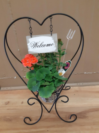 Small Outdoor Welcome Outdoor Planter