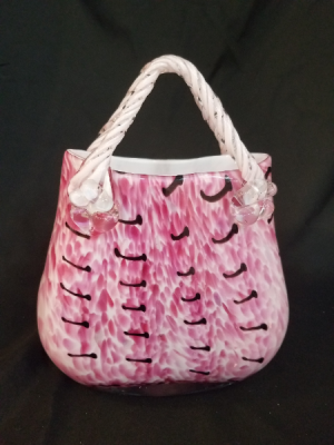 Pink Purse Vase in Boca Raton, FL | Flowers of Boca