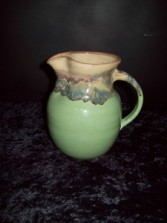 """Small Pottery Pitcher """"Misty Green"""" Pottery"""