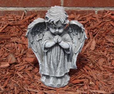 Small praying cherub