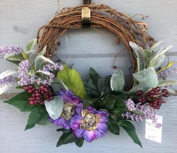 Small purple grapevine wreath