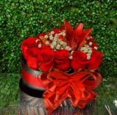 Small roses heart box