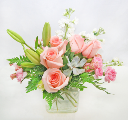 SMALL SQUARE PINK FLORAL Small
