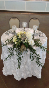 Small table for bride and groom  Wedding