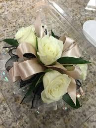 small white corsage