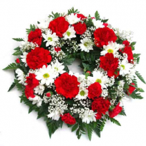 SMALL WREATH Red and white