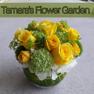Small Yellow Rose Bowl
