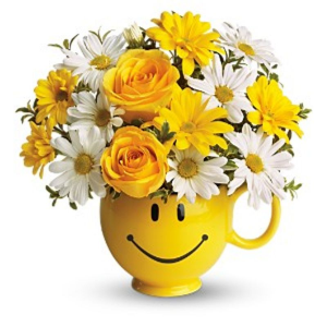 Smile Mug Arrangement in Memphis, TN | Something Pretty Too Flower And Gifts
