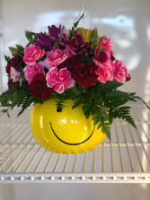 Smiley Bowl Fresh Flowers