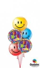 Smiley Get Well balloons