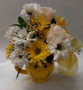 Smiley Mug Administrative Professionals Bouquet