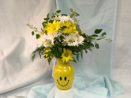 Smiley Vase Vase arrangement