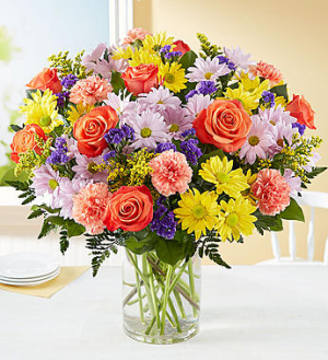 Smiling Blooms Arrangement in Croton On Hudson, NY | Cooke's Little Shoppe Of Flowers