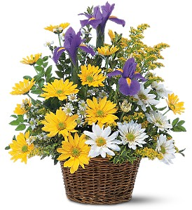Smiling Floral Basket Arrangement