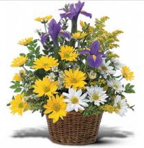 Smiling Floral Basket basket