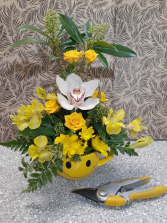 Smiling Orchid One sided Arrangement