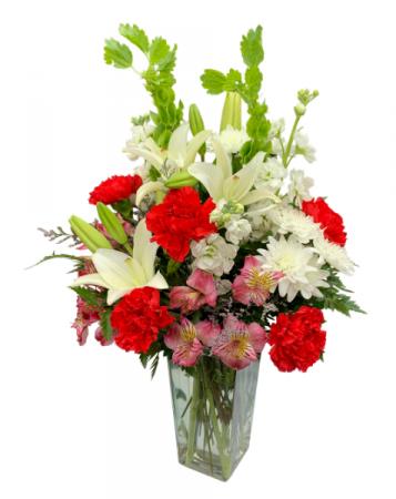 Smitten Sweetheart Vase Arrangement