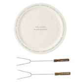 S'More Plate & Skewer Set Gift Item