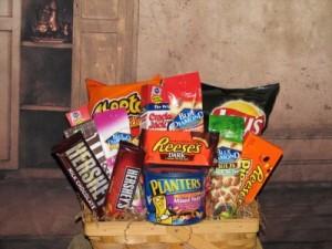 Snack Attack Gift Basket in Stevensville, MT | WildWind Floral Design Studio