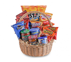 Salted Snack Basket Gift Basket in Tulsa, OK | THE WILD ORCHID FLORIST