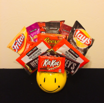 Snack Pack and Smiles Junk Food Arrangement