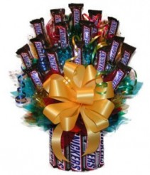 Snicker's Candy Bouquet Gift Basket