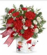 SNOOPY CHRISTMAS MUG Vase Arrangement