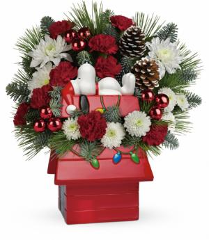 Snoopy's Cookie Jar  Holiday Arrangement in Winnipeg, MB | KINGS FLORIST LTD