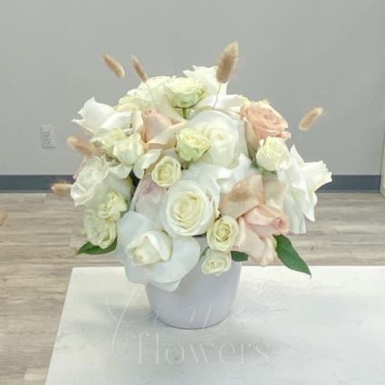 Snow Bunny Vase Arrangement