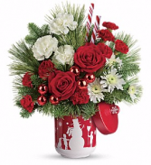 snow day  bouquet one sided  cookie jar