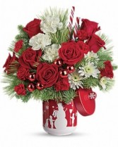 Snow Day Bouquet Telelfora - Two Gifts in One