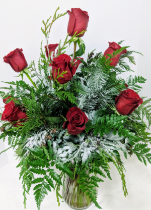 Snow Kissed Roses  in Douglasville, GA | The Flower Cottage & Gifts, LLC