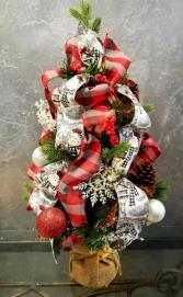 Snow Man  Mini Artificial Battery lit Tree