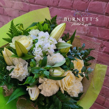 Snow White Bouquet  Hand-tied Bouquet