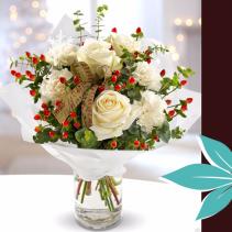 Snow White Bouquet Christmas