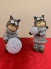 Snowball Figurines  Christmas