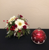 Snowcapped Ornament Holiday Keepsake Arrangement