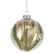Snowdrops Glass Christmas Ornament Gift Item