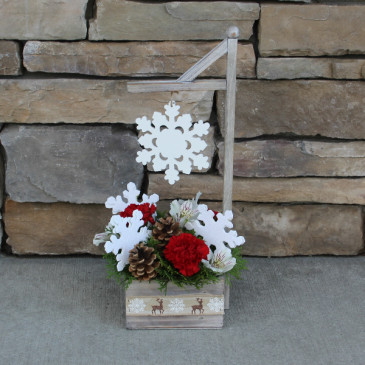 Snowfall Christmas Flowers