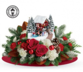 Snowfall Dreams Bouquet Keepsake Christmas Light up Cottage