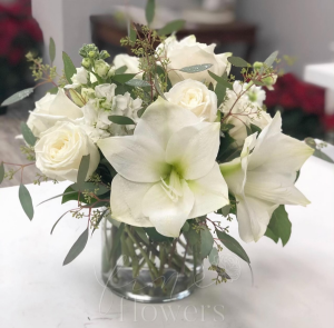 Snowfall Vase Arrangement in Middletown, NJ | Fine Flowers