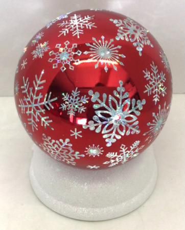 Snowflake Twirling Water Globe Holiday Decor
