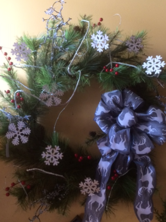Snowflake Wreath Holiday Silk